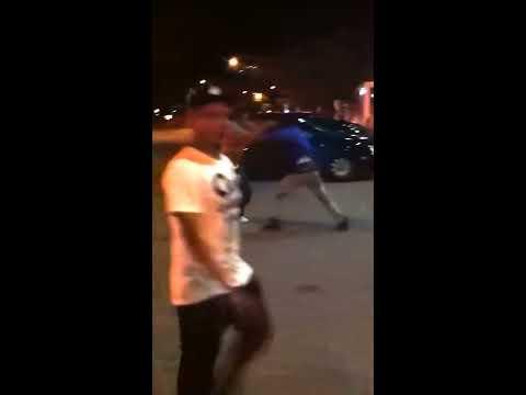 Crazy triple knockout street fight!
