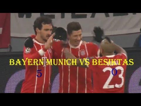 Bayern munich vs Besiktas 5-0- UCL - highlights & goals 20/02/2018 HD