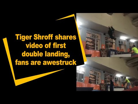 Tiger Shroff shares video of first double landing, fans are awestruck