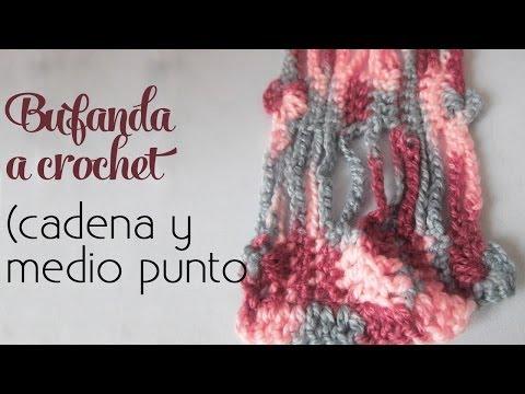Cómo tejer: Bufanda súper fácil (cadenas y medios puntos)