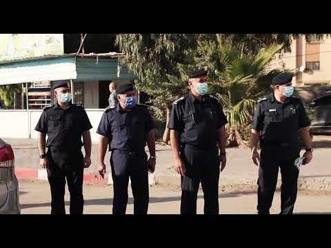 جولة ميدانية لقيادة شرطة محافظة غزة لمتابعة التزام المواطنين بإجراءات السلامة