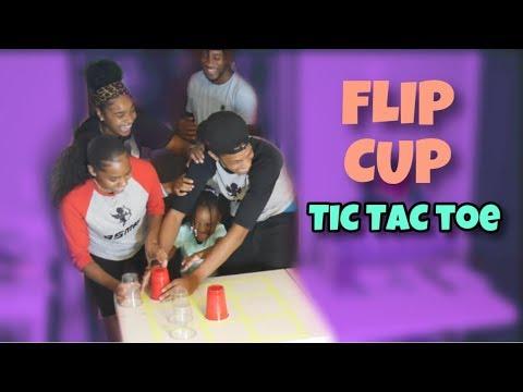 FLIP CUP TIC TAC TOE RELAY | BOYS VS GIRLS