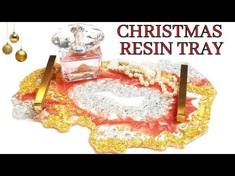Diy Resin Tray | Christmas Resin Geode Tray | Diy Resin Crafts