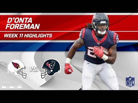 Video: D'Onta Foreman's 2 TD Game vs. Arizona! | Cardinals vs. Texans | Wk 11 Player Highlights