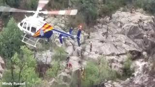 This raw video from Mindy Russell shows an air rescue near Payson in the same area where 9 people are confirmed dead. Monsoon storms led to flash flooding in the area.