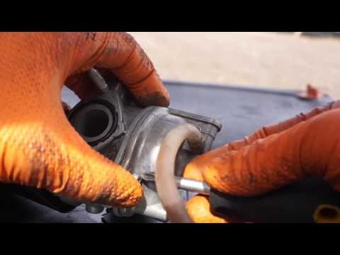 How to clean a carburetor on a Kymco People 50