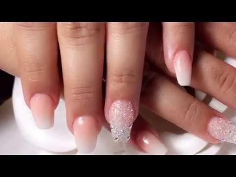 Videos de uñas - Uñas acrílicas paso a paso diseño sencillo para novia
