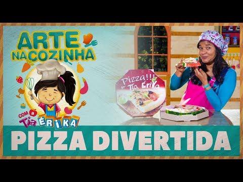 PIZZA DIVERTIDA - Arte na cozinha com a Tia Érika
