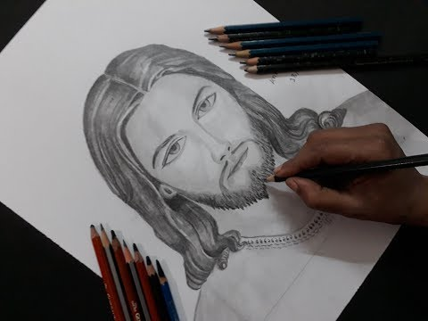 How to draw Jesus Christ drawing step by step