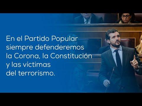 Seremos el altavoz de todos los españoles en defensa de la Constitución, del Rey y de las víctimas del terrorismo