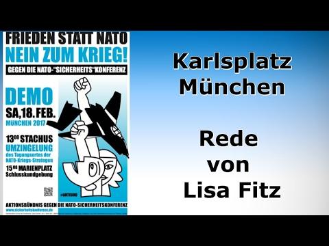 Protest gegen die Siko 2017: Rede von Lisa Fitz