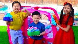 Video Car Wash Song | Wendy Pretend Play This Is the Way Nursery Rhymes & Kids Songs MP3, 3GP, MP4, WEBM, AVI, FLV Mei 2019
