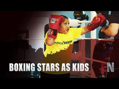 Boxing stars As Kids Floyd Mayweather Crawford Wilder Joshua Broner Tank Mikey Benavidez