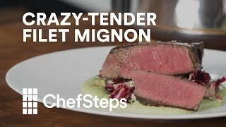 Tenderloin is expensive. Make the most of your pricey premium cut by cooking it sous vide, then finishing with a quick sear on the stove. chfstps.co/2klmUAGYou're passionate about cooking. We're here to help.Become a member and be the first to learn about new recipes, special offers, and goings-on around the kitchen: http://chfstps.co/1paXXVdAnd while you're at it...Like us on Facebook: http://chfstps.co/1thBubbFollow us on Instagram: http://chfstps.co/1nDs8Fj Tweet with us: http://chfstps.co/1gMVbWAGet Pin-spired: http://chfstps.co/1koB9kIRead our blog: http://chfstps.co/1rhTgh0