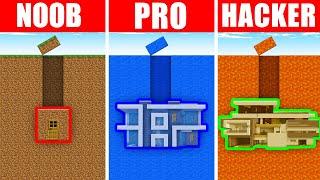 Minecraft NOOB vs. PRO vs. HACKER: UNDERGROUND SECRET HOUSE in Minecraft! (Animation)