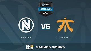 EnVyUs vs fnatic - ESL Pro League S6 EU - de_cache [ceh9, MintGod]