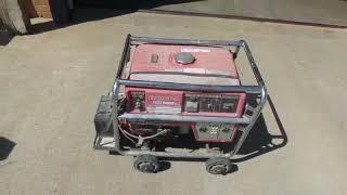 1. Honda EM5000S generator for sale at auction | bidding closes October 16, 2018