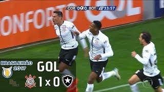 Gol - Corinthians 1 x 0 Botafogo - 11ª Rodada Brasileirão 2017 - 02/07/2017Narração: Luís RobertoEstádio: Itaquerão/Arena Corinthians, São Paulo-SP