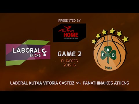 Highlights: Playoffs Game 2, Laboral Kutxa Vitoria Gasteiz 82-78 OT Panathinaikos Athens