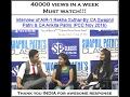 Interview of AIR-1 Rekha Suthar-By CA Swapnil Patni & CA Ankita Patni( IPCC Nov 2016)