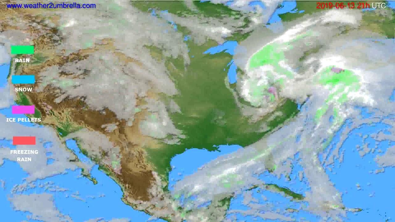 Precipitation forecast USA & Canada // modelrun: 00h UTC 2019-06-12