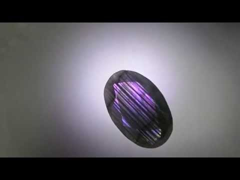75.45CT RARE NATURAL SPARK PURPLE SHINE FLASH LABRADORITE AFRICAN FACETTED GEMS