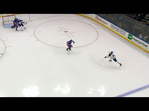 Video: Sabres' Falk ties game against Rangers with untouched shot from point