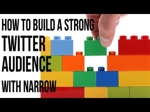 Watch 'How to Build a Strong Twitter Audience with Narrow.io'
