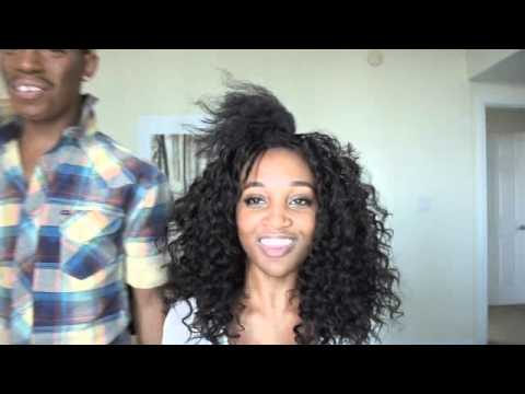Big Curly Weave on Natural Hair- Trevel Hill - Bobbi Boss Hair