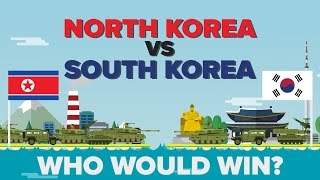 Who would win in a North and South Korea hypothetical battle? Who has a better military, navy, airforce, etc? Let's take a look in ...