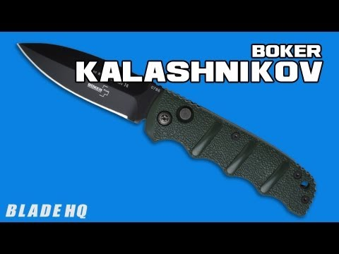 "Boker Kalashnikov Automatic Knife Safety Orange (3.3"" Stonewash Dagger)"