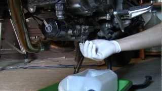 10. DL650 Vstrom L0 Oil & Oil Filter Change.mpg