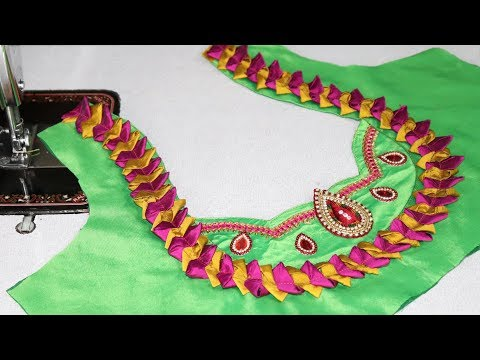Video new model patch work blouse Neck design cutting and stitching 2018 download in MP3, 3GP, MP4, WEBM, AVI, FLV January 2017