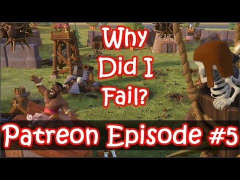 Patreon Episode #5 - Cool Tricks And A Fail - Clash Of Clans