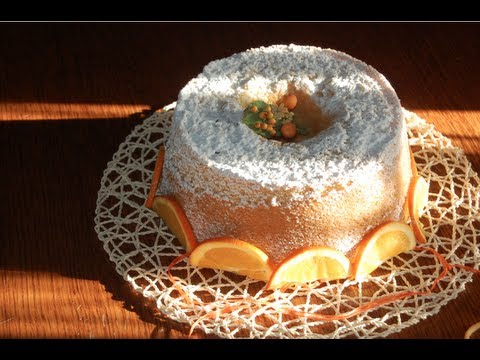 video ricetta: una deliziosa chiffon cake all'arancia