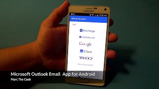 Here is the Microsoft Outlook Preview Email App for Android devices. This app recently released for free. It works great on phones and tablets. I show most of the ...
