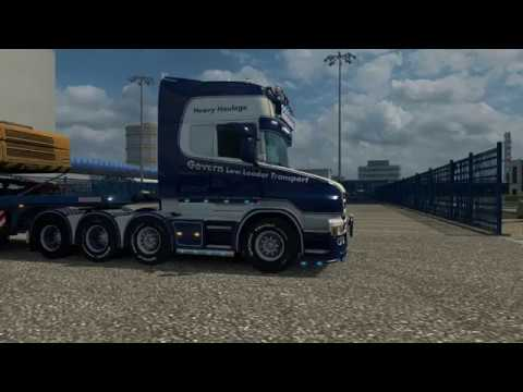 Govern Low Loader Transport Scania T (RJL) 1.27.x