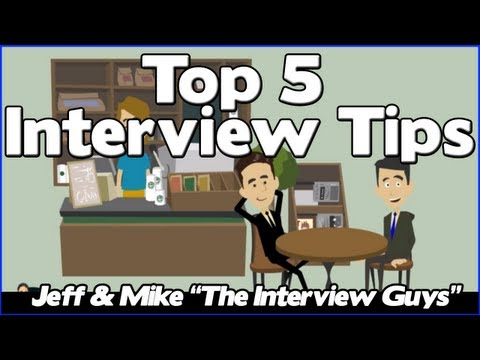 interviewing - These 5 interview tips will help you ace your interview and get the offer. Watch Jeff & Mike break down exactly what you need to do to with these critical jo...