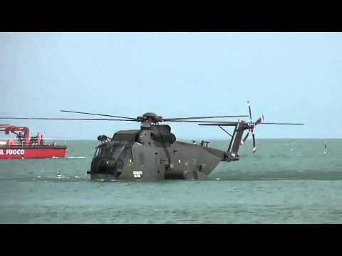 HH3F Helicopter Water Landing at Jesolo Air Extreme 2011 Air Show Italy