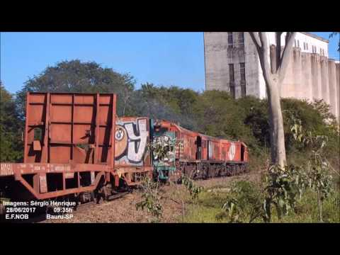 Trio de U20C Manobrando vagões para Curuçá em Bauru-SP [Full HD]