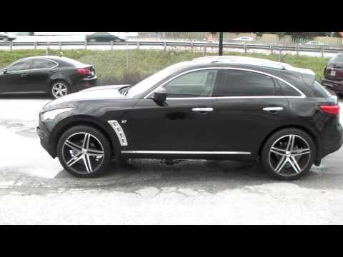 DUBSandTIRES.com XO Caracas Concave Black Wheels 2014 Infiniti QX-70 Rims Miami Online Sales