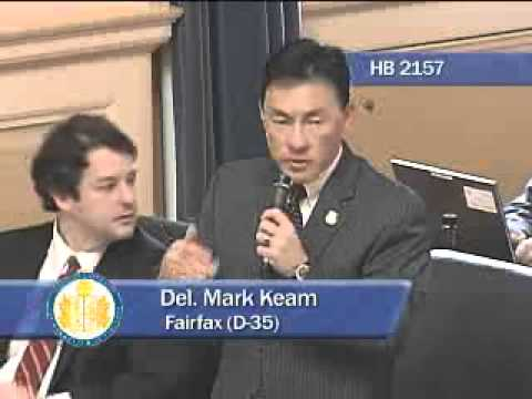 Del. Mark Keam introduces HB 2157 on January 25, 2013.