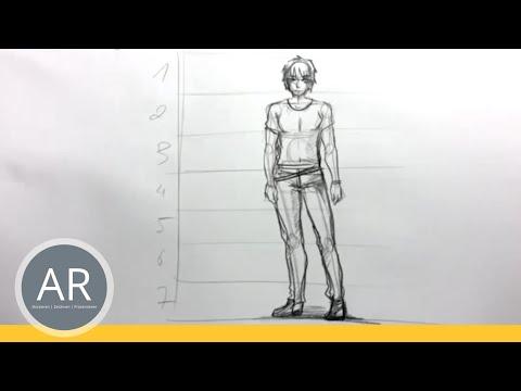 Zeichnen lernen – Aufbau einer männlichen Figur – Akademie Ruhr Tutorial