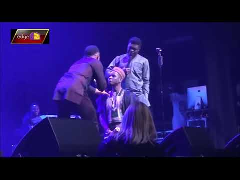 Download Kenny Blaq Kneels Down For Woli Arole To Pray For Him Live In London