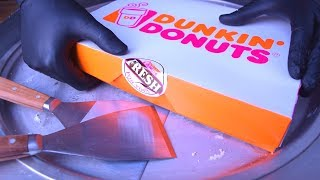Ice Cream Rolls   Dunkin Donuts Ice Cream - with Vanilla Chocolate and Cocoa   oddly satisfying ASMR