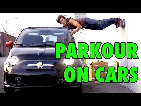 Κάνοντας Parkour σε κινούμενα αμάξια