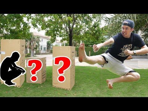 กระโดดถีบคนแอบในกล่อง!! (โคตรฮา!!)