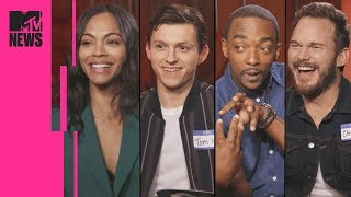 Video The 'Avengers: Infinity War' Cast Play Marvel Trivia | MTV News MP3, 3GP, MP4, WEBM, AVI, FLV Juli 2018