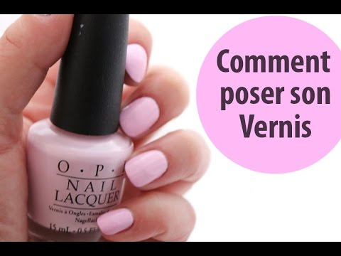 comment poser du vernis a ongle rouge