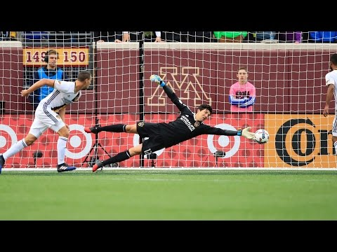 Video: SAVE! Brian Rowe makes a jaw-dropping save on Miguel Ibarra